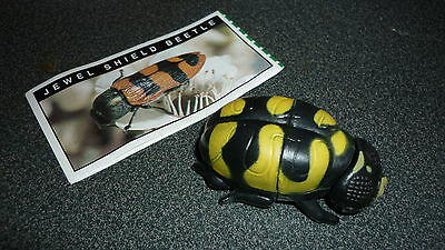 Colectable Australian Yowie Toy With Papers, Jewel Shield Beetle, Yellow