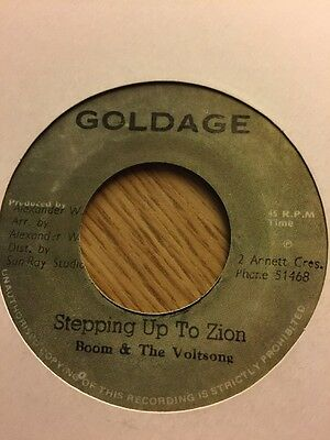 """Gold age Reissue"""" Stepping Up To Zion"""" Boom & The Voltsong"""""""