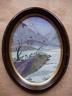"Completed Crosstitch ""Canadian Landscape"""