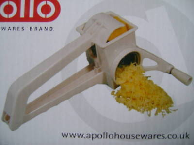 New Boxed Apollo Rotary Grater Stainless Steel. Cheese
