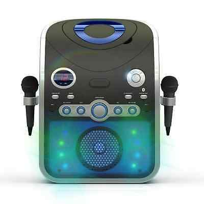 Bluetooth Karaoke Machine Inc Microphones 14 CD+G Discs & Party Lights 226 Songs