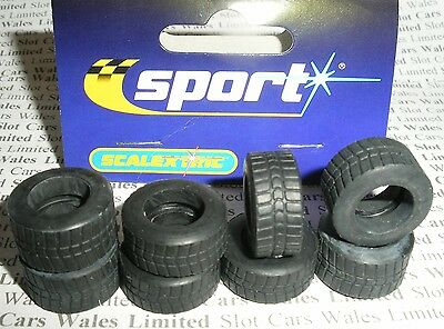 Scalextric - 2 Sets - W8514 Intermediate Front and Rear Tyres F1 - NEW