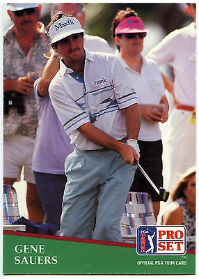 Gene Sauers #13 PGA Tour Golf 1991 Pro Set Trade Card (C321)
