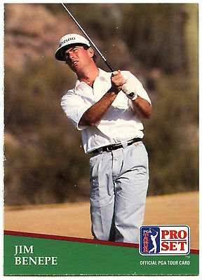 Jim Benepe #12 PGA Tour Golf 1991 Pro Set Trade Card (C321)