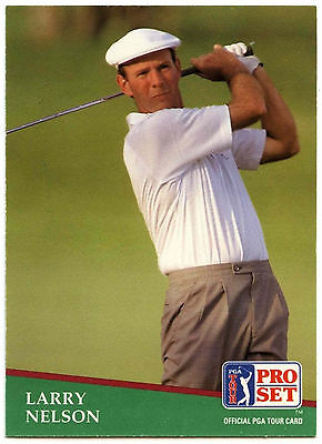Larry Nelson #16 PGA Tour Golf 1991 Pro Set Trade Card (C321)