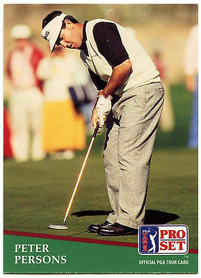 Peter Persons #22 PGA Tour Golf 1991 Pro Set Trade Card (C321)