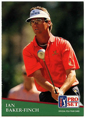 Ian Baker-Finch #151 PGA Tour Golf 1991 Pro Set Trade Card (C321)