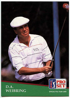 D.A. Weibring #121 PGA Tour Golf 1991 Pro Set Trade Card (C321)