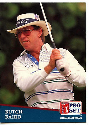 Butch Baird #199 PGA Tour Golf 1991 Pro Set Trade Card (C321)
