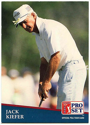 Jack Kiefer #259 PGA Tour Golf 1991 Pro Set Trade Card (C321)