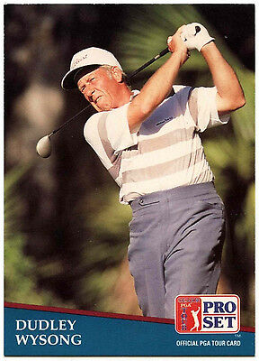 Dudley Wysong #262 PGA Tour Golf 1991 Pro Set Trade Card (C321)