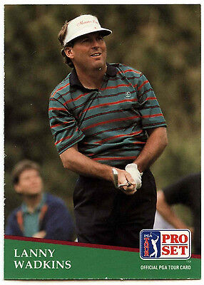 Lanny Wadkins #36 PGA Tour Golf 1991 Pro Set Trade Card (C321)