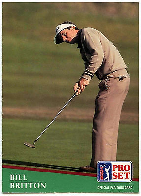 Bill Britton #2 PGA Tour Golf 1991 Pro Set Trade Card (C321)