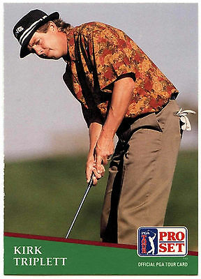 Kirk Triplett #150 PGA Tour Golf 1991 Pro Set Trade Card (C321)