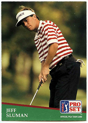 Jeff Sluman #1 PGA Tour Golf 1991 Pro Set Trade Card (C321)