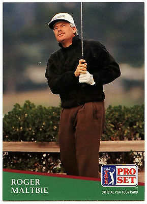 Roger Maltbie #50 PGA Tour Golf 1991 Pro Set Trade Card (C321)