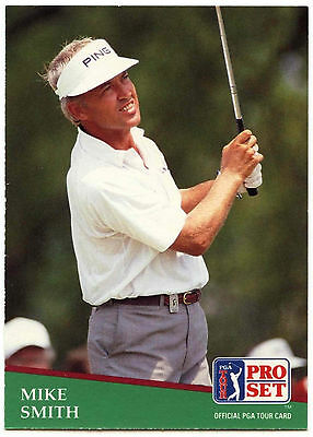 Mike Smith #74 PGA Tour Golf 1991 Pro Set Trade Card (C321)