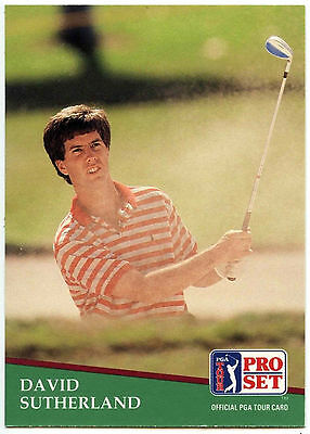 David Sutherland #42 PGA Tour Golf 1991 Pro Set Trade Card (C321)