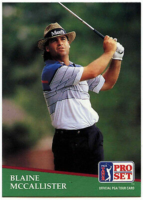 Blaine McCallister #95 PGA Tour Golf 1991 Pro Set Trade Card (C321)