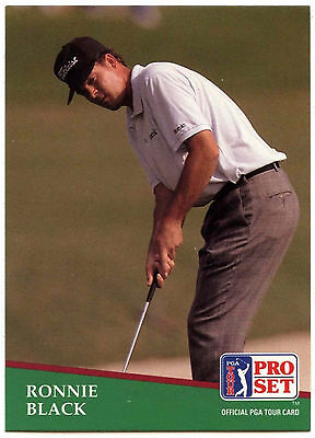 Ronnie Black #123 PGA Tour Golf 1991 Pro Set Trade Card (C321)