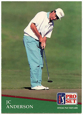 JC Anderson #120 PGA Tour Golf 1991 Pro Set Trade Card (C321)