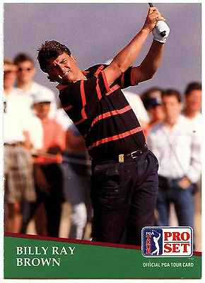 Billy Ray Brown #157 PGA Tour Golf 1991 Pro Set Trade Card (C321)
