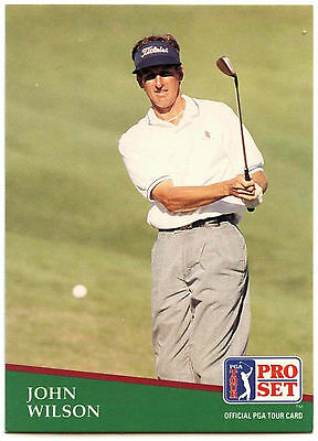 John Wilson #66 PGA Tour Golf 1991 Pro Set Trade Card (C321)