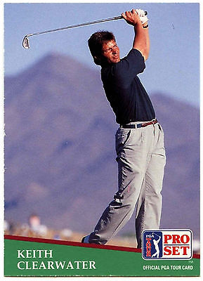 Keith Clearwater #119 PGA Tour Golf 1991 Pro Set Trade Card (C321)