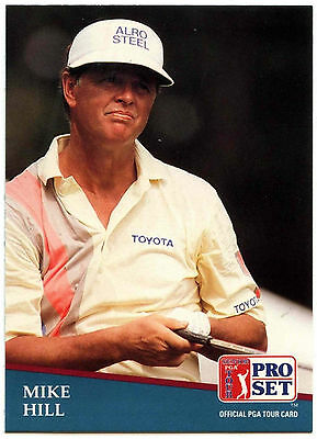 Mike Hill #210 PGA Tour Golf 1991 Pro Set Trade Card (C321)