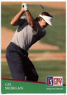 Gil Morgan #80 PGA Tour Golf 1991 Pro Set Trade Card (C321)