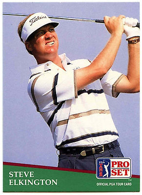 Steve Elkington #148 PGA Tour Golf 1991 Pro Set Trade Card (C321)