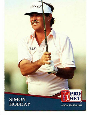 Simon Hobday #258 PGA Tour Golf 1991 Pro Set Trade Card (C321)