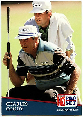 Charles Coody #243 PGA Tour Golf 1991 Pro Set Trade Card (C321)