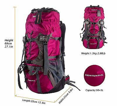 Rucksack Bag 55L Outdoor Sport Luggage Travel Backpack Camping Hiking Climbing