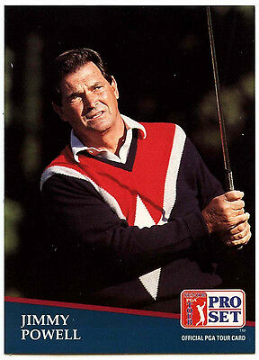 Jimmy Powell #247 PGA Tour Golf 1991 Pro Set Trade Card (C321)