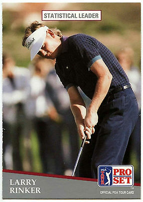 Larry Rinker #270 PGA Tour Golf 1991 Pro Set Trade Card (C321)