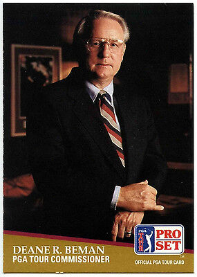 Deane R. Beman #CC1 PGA Tour Golf 1991 Pro Set Trade Card (C321)