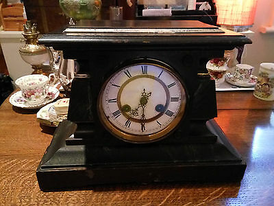 Victorian wooden Mantle clock