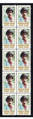 Mark Spitz Olympic Legend Strip Of 10 Mint Stamps 4