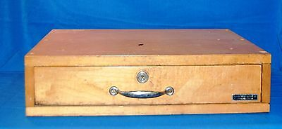 Antique Indiana Cash Drawer Co. Shelbyville Indiana Wood Cash Drawer