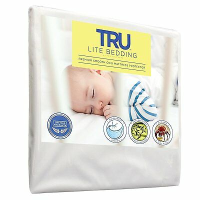 Baby Crib Bedding Mattress Protector Toddler Waterproof Breathable Smooth Cover