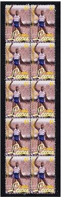 Carl Lewis Us Olympic Legend Strip Of 10 Mint Stamps 2