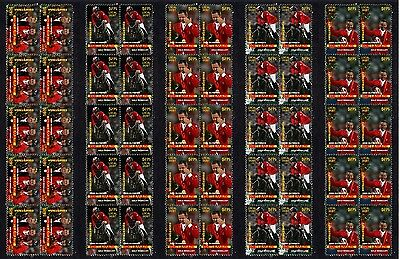 Eric Lamaze Olympic Equestrian Gold Set Of Mint Stamps