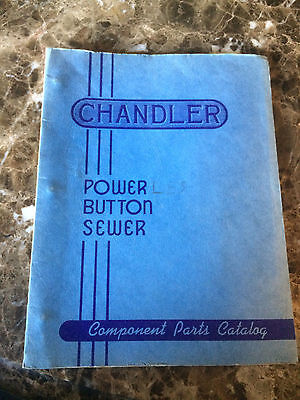 Component Parts Catalog for CHANDLER Power Button Sewer machine