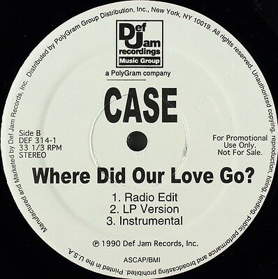 """Case - Happily Ever After / Where Did Our Love Go? Vinyl 12"""" 0713440"""