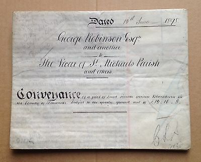 INDENTURE, Original Legal Document - CONVEYANCE OF LAND 1898 (with seals)