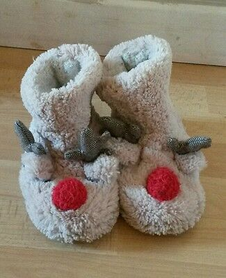 Next Rudolf the red nose reindeer slippers. Size 9 (infant)