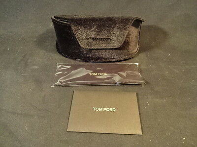 "TOM FORD Sunglasses Eyeglasses Glasses Case With Cleaning Rag 7"" Long"