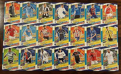 Champions Legaue 16/17 Match Attax. Full set of all 21 Rising Star (RM not incl)