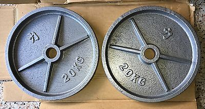 2 X 20KG Strength Shop Iron Olympic Weight Plates
